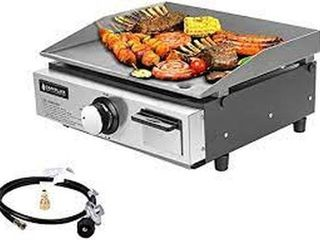 CAMPlUX 17 INCH TABlE TOP GAS GRIll GRIDDlE