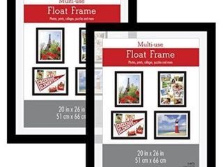 MCS FlOAT POSTER FRAME  SET OF 2  20 X 26 INCHES
