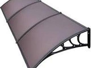 VIVOHOME POlYCARBONATE WINDOW DOOR AWNING 120 X