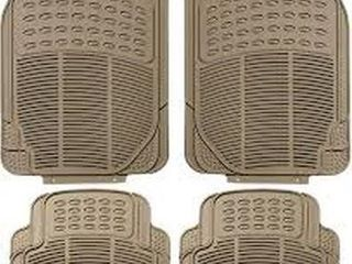 FH GROUP TAN All WEATHER FlOOR MAT 4 PIECE