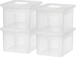 IRIS lETTER AND lEGAl SIZE FIlE BOX 4 PACK