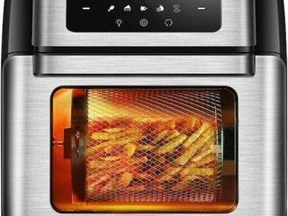 10 6 QUART  CROWNFUl 10 IN 1 AIR FRYER TOASTER