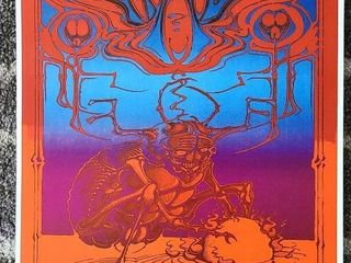Psychedelic Rick Griffin  Hollywood Palladium  lithograph