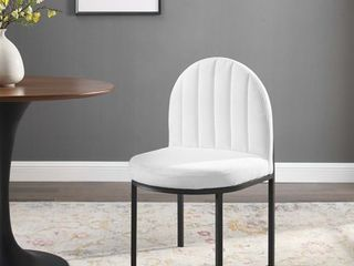 Isla Channel Tufted Upholstered Fabric Dining Side Chair