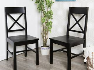 Simple living Tiffany Cross Back Chairs SET OF 2