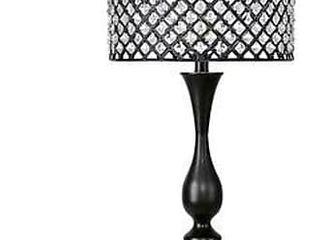 Silver Orchid Table lamp w  Crystal Bling Shade