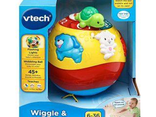 VTech Wiggle   Crawl Ball w  Animal Friends Encourages Motor Skills