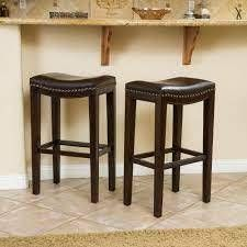 Avondale Bonded leather Bar Stools by CKH SET OF 2
