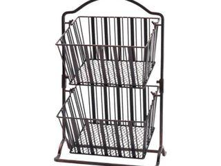 Mikasa Band Stripe 2 Tier Hanging Basket
