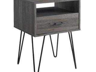 Modern Single Drawer Hairpin leg Side Table