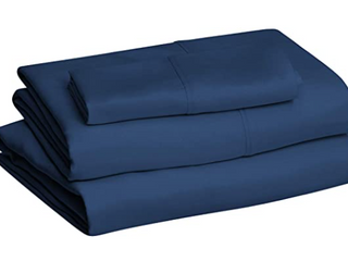SET OF TWINS BED SHEETS COlOR NAVY BlUE