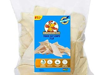 Premium Thick Cut Chips  Wholegrain Rawhide  last Much longer Than Traditional Chips  100  Natural  Great Behavioral Dog Chewing Treat Solution  No Preservatives   3 Pounds