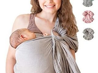 Mebien Baby Wrap Carrier Ring Sling Cotton Muslin Newborn Infant Toddler Grey