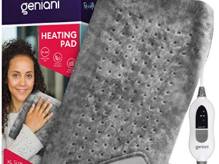 Geniani Extra large Electric Heating Pad For Back Pain And Cramps Relief 12 x24