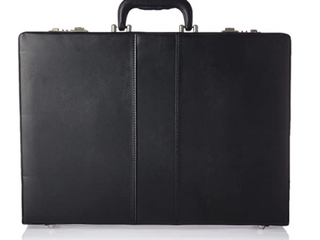 lorell Black leather Briefcase