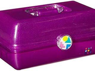 Caboodles On The Go Girl Purple Sparkle Jellies Vintage Case  1 lb  CAB56260N