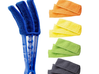 HIWARE WINDOW BlINDS duster brush  BlUE