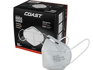 Coast KN95 CE Certified Face Mask  Individually Packaged  Box of 20