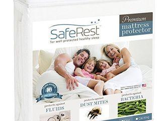 SafeRest Queen Size Premium Hypoallergenic Waterproof Mattress Protector   Vinyl Free