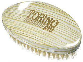 Torino Pro Wave Brush  16  Soft Curve Palm Brush   100  boar bristle Curved hair brush for men Great for laying and polishing your 360 waves before putting on your durag