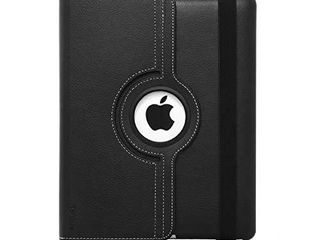 Targus VersaVu Apple iPad 2 3 4 Classic 360 Degree Rotating Case and Stand Cover  Water Resistant  Stylus Holder  Multi Angle Viewing  Secure Strap Closure  Black  THZ156US