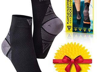 langov Nano Socks  Neuropathy Socks  Pair  for Women   Men  Ankle Support Brace  Toeless Compression Plantar Fasciitis Socks   Foot Sleeve for Heel  Achilles tendonitis   Arch Pain Relief   Treatment