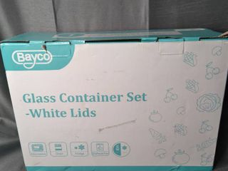 Glass Container Set White lids