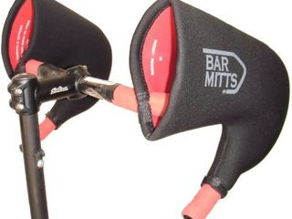 Bar Mitts Cold Weather Road Bicycle Handlebar Mittens fits Campy SRAM Shimano Shifters with Internally Routed Cables  large  Black