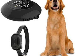 Nobranded Wireless Dog Fence  Pet Containment System  Rechargeable and Waterproof Shock Collar   Electric Pet Fence for Stubborn Dogs   large Coverage Area up to 5 Acres   100  Safe