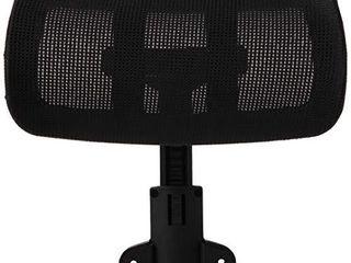 lorell Hi Back Chair Mesh Headrest  Black