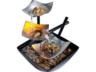 Homedics Relaxation Indoor Tabletop Fountain  Silver Springs