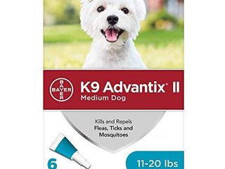 K9 Advantix II Flea and Tick Prevention for Medium Dogs 3 Pack  11 20 Pounds