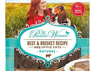 The Pioneer Woman Grain Free  Natural Dog Treats  Beef   Brisket Recipe BBQ Style Cuts   30 Oz  Pouch