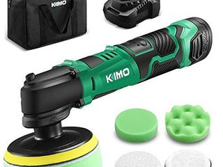 KIMO 12V 4  3000RPM Cordless Car Buffer Polisher Kit w  2 0Ah Battery   Fast Charger  Variable Speed  4 Polishing Pads for Removing Car Scratch  Polishing Car Home Appliance Ceramic Boat Detailing