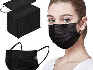 50pcs Black Disposable Face Mack For Protection Mouth Shields Safety Health Dust Proof