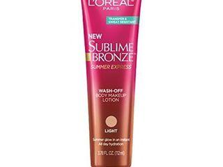 l Oreal Paris Sublime Bronze Summer Express Wash Off Body Makeup lotion light   3 78 fl oz