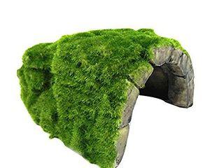 OMEM Reptile Hide  Tortoise Hide cage  Artificial Plant Rock  humidified Habitat Decoration  A