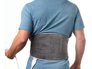Pure Enrichment PureRelief lumbar   Abdominal Heating Pad   Fast Heating Technology with 4 Heat Settings  Adjustable Belt  Hot Cold Gel Pack  and Storage Bag   Ideal for Back Pain and Abdominal Cramps