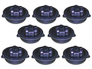 Shepherd Hardware 8721E Hidden Swivel Plate Casters  2 1 2 Inch  Black