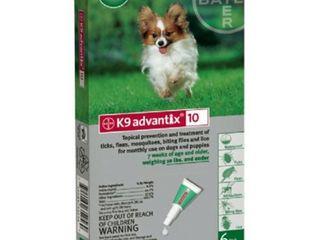 K9 Advantix Flea Control for Dogs up to 10 Pounds  4 Applications