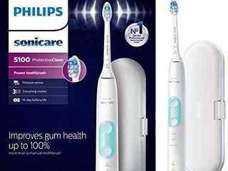 Philips Sonicare HX6857 11 ProtectiveClean 5100 Rechargeable Electric Toothbrush  White
