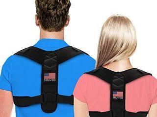 Posture Corrector For Men And Women   Adjustable Upper Back Brace For Clavicle To Support Neck  Back and Shoulder  Universal Fit  U S  Design Patent