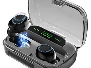 Wireless Earbuds Bluetooth Headphones BRJ f9 Waterproof Deep Bass Earphones with Portable Power Banks Smart lED Display Built in Mic Headset