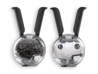 Chef n Mini Magnetic PepperBall and SaltBall Set  Black 101 033 001