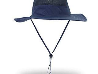 EONPOW Windproof Fishing Hats UPF50  UV Protection Sun Hat Outdoor Bucket Mesh Hat 56 61cm Blue