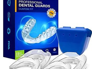 Neomen Professional Dental Guard   2 Sizes  Pack of 4   Upgraded Mouth Guard For Teeth Grinding  Anti Grinding Dental Night Guard  Stops Bruxism  Tmj   Eliminates Teeth Clenching  100  Satisfaction