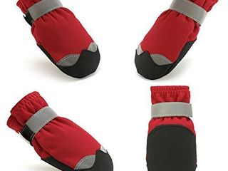 ZIFEIPET Dog Shoes Anti Slip Dog Socks for Small to large Dogs Waterproof Dog Boots with Reflective Fasten Strap Perfect for Indoor   Outdoor WearAA