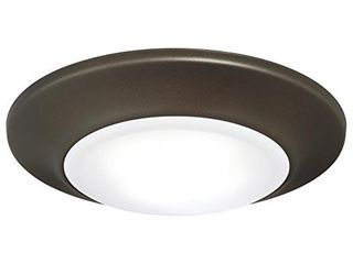 Westinghouse lighting 6322400 Small lED Indoor Outdoor Dimmable Surface Mount Wet location  Oil Rubbed Bronze Finish with Frosted lens