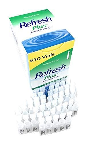 Allergan Refresh Plus lubricant Eye Drops Single Use Vials  Clear   100 Count  Pack of 1