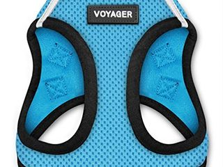 Voyager Step in Air Dog Harness   All Weather Mesh  Step in Vest Harness for Small and Medium Dogs by Best Pet Supplies Baby Blue Base  M  Chest  16   18